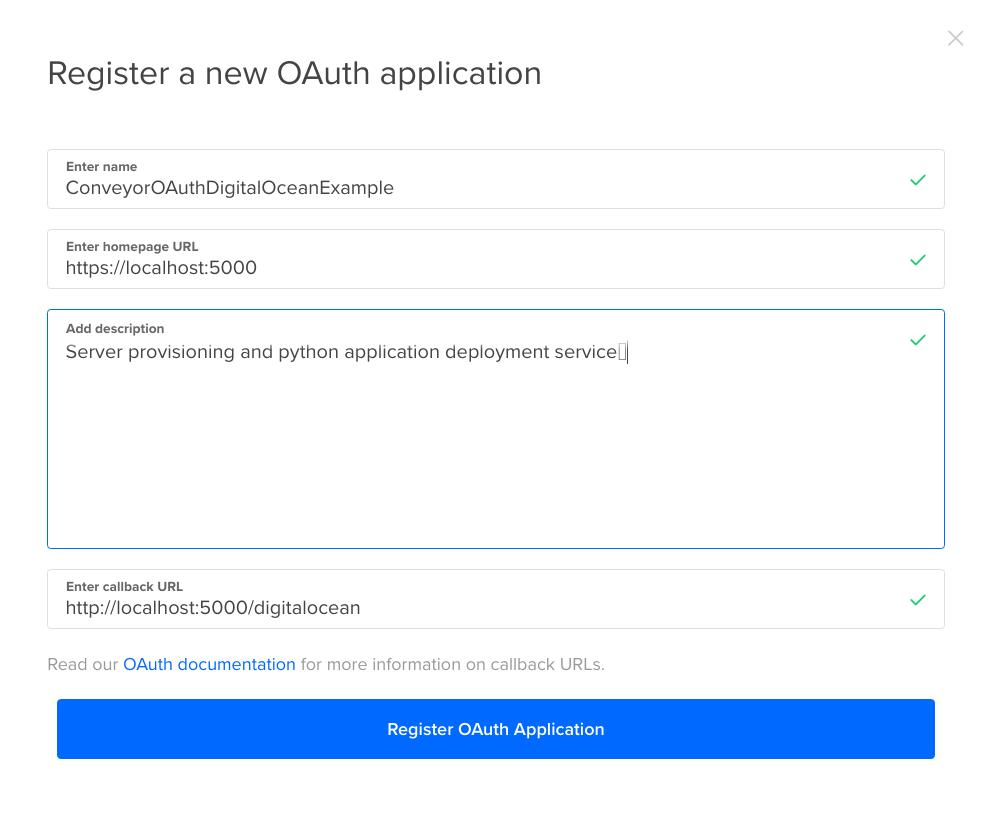 Register OAuth App Details